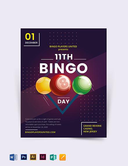 Bingo Event Flyer Template Download 318+ Flyer Templates in