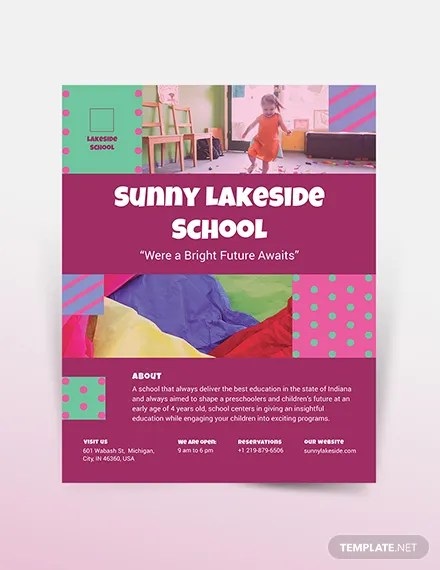 Simple Preschool Flyer Template Download 0+ Flyer Templates in