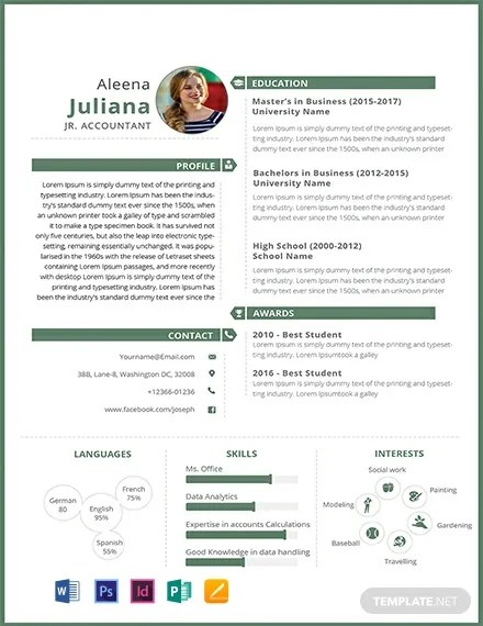 FREE Junior Accountant Resume Template Download 306+ Resume