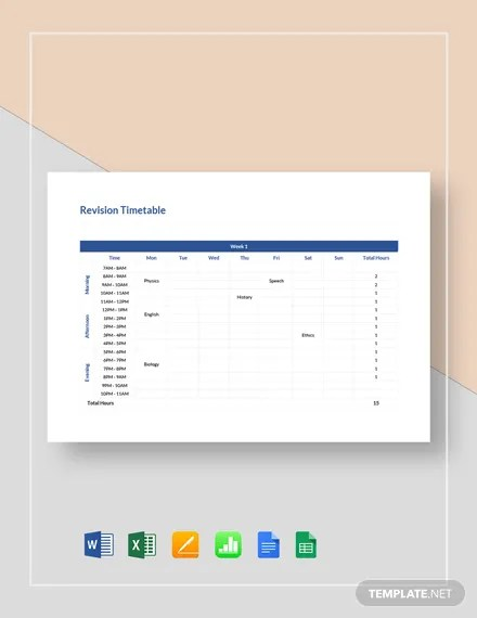FREE Blank Timetable Template Download 264+ Schedules in Word