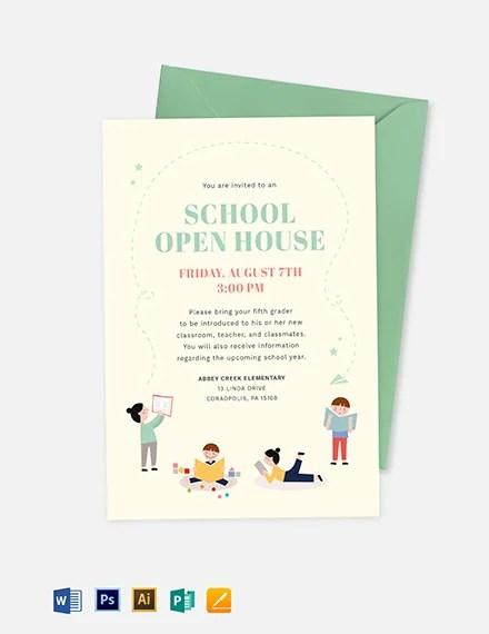 School Open House Invitation Template Download 227+ Invitations in