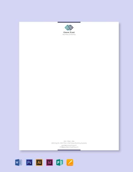 Business Letterhead Template Download 50+ Letterheads in Adobe