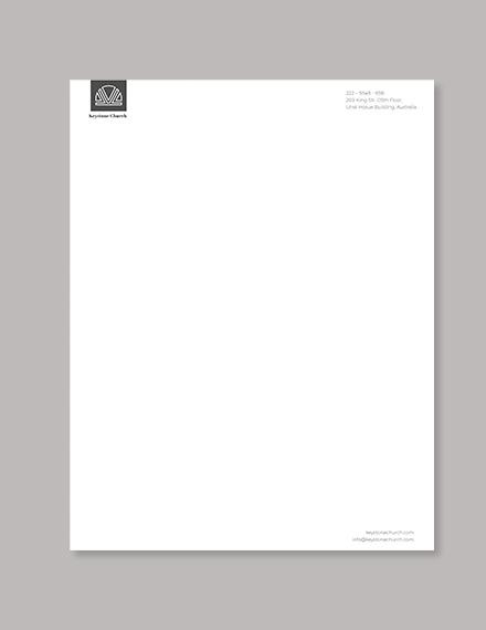 Church Letterhead Template Download 0+ Letterheads in Adobe