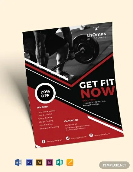 24+ Fitness Flyer Designs - PSD, Word, Publisher Free  Premium