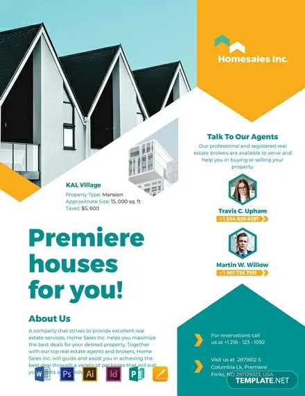35+ Beautiful Real Estate Flyer Templates - AI, Word, Pages Free