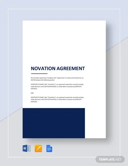 Sample Novation Agreement Template Download 235+ Agreements in