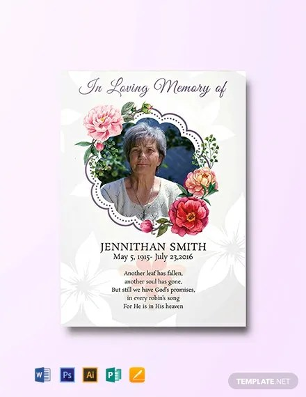 FREE Floral Funeral Thank You Card Download 300+ Cards in PSD