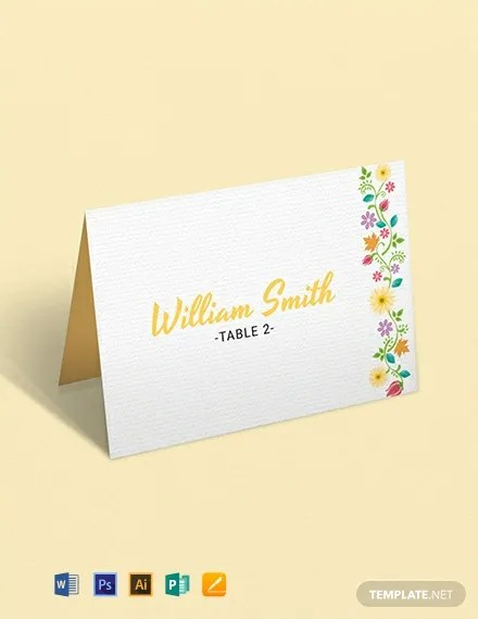 11+ FREE Place Card Templates Download Ready-Made Templatenet