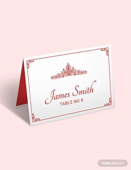 Free Place Card Templates Download Ready-Made Templatenet - place card template