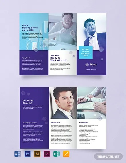 FREE Recruitment Brochure Template Download 457+ Brochures in PSD