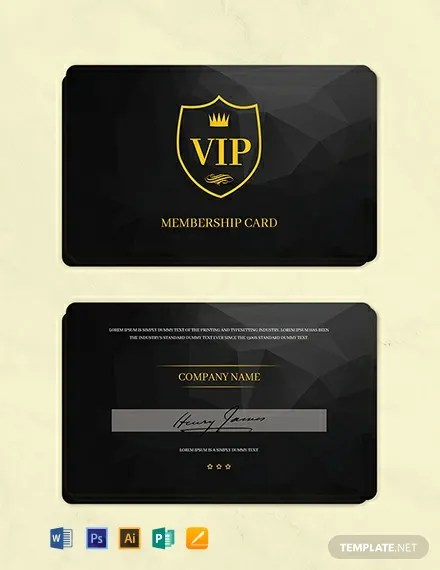 13+ FREE Membership Card Templates Download Ready-Made Templatenet