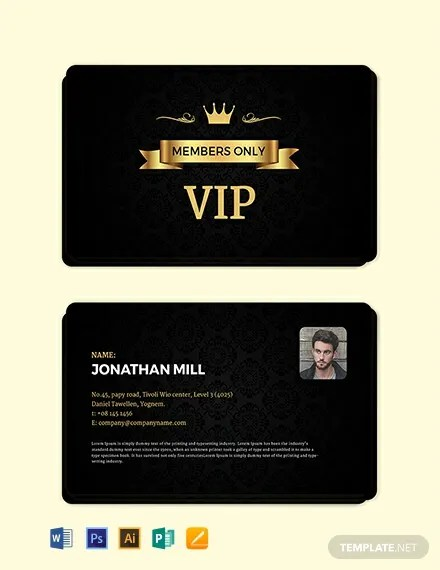 FREE Fan Club Membership Card Template Download 300+ Cards in PSD
