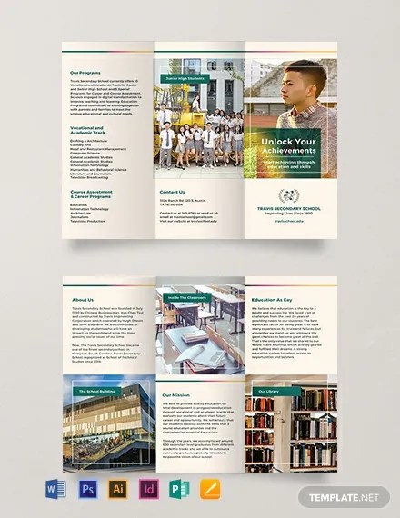FREE Junior High School Brochure Template Download 457+ Brochures