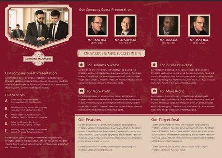 Free Retro Multipurpose Trifold Brochure Template Free Templates