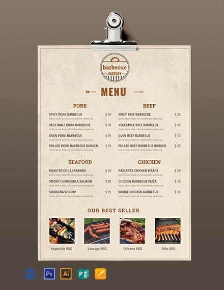 free christmas menu templates