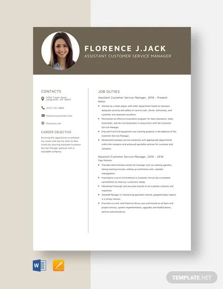 service manager resume templates