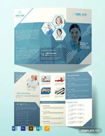 FREE Drug Care A3 Tri-Fold Brochure Template Download 461+