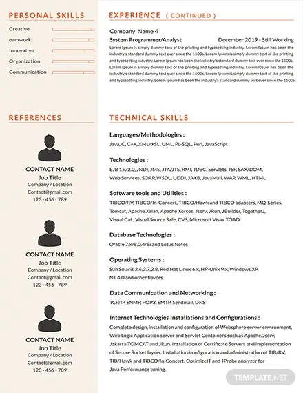 FREE Senior Java Developer Resume Template Download 160+ Resumes in