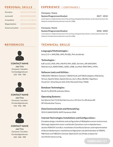 FREE Senior Java Developer Resume Template Download 316+ Resume