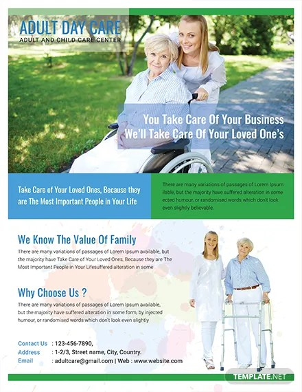 FREE Adult Day Care Center Flyer Template Download 416+ Flyers in