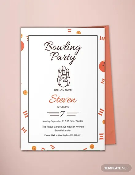 FREE Bowling Party Invitation Template Download 344+ Invitations in
