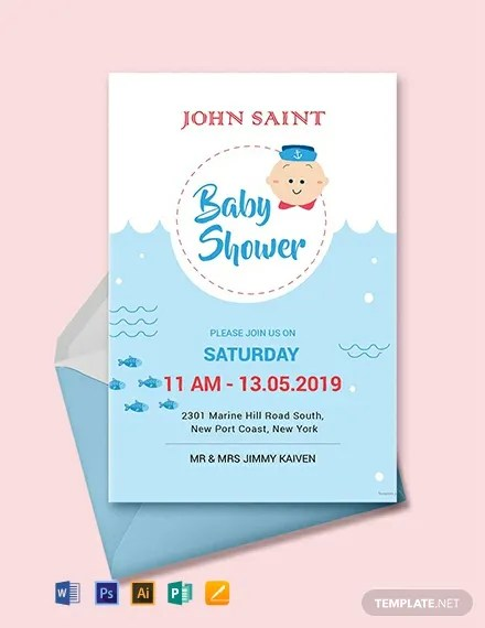 63+ Unique Baby Shower Invitations - Word, PSD, AI Free  Premium