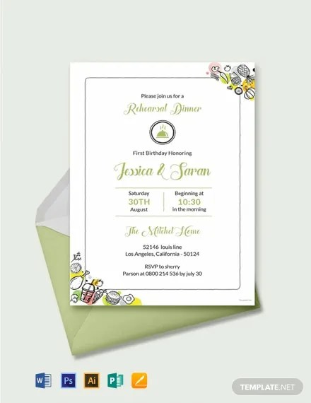 FREE Printable Rehearsal Dinner Invitation Template Download 637+