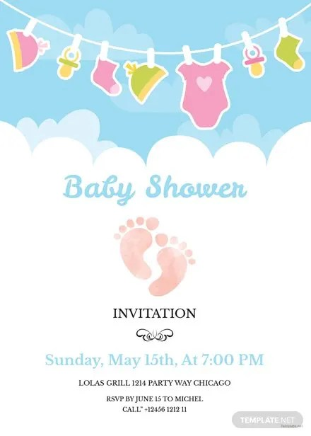 Free Baby Shower Invitation Template Free Templates