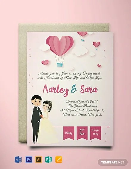 FREE Elegant Engagement Invitation Card Template Download 637+