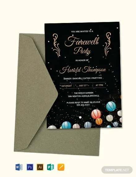 FREE Farewell Party Invitation Template Download 637+ Invitations