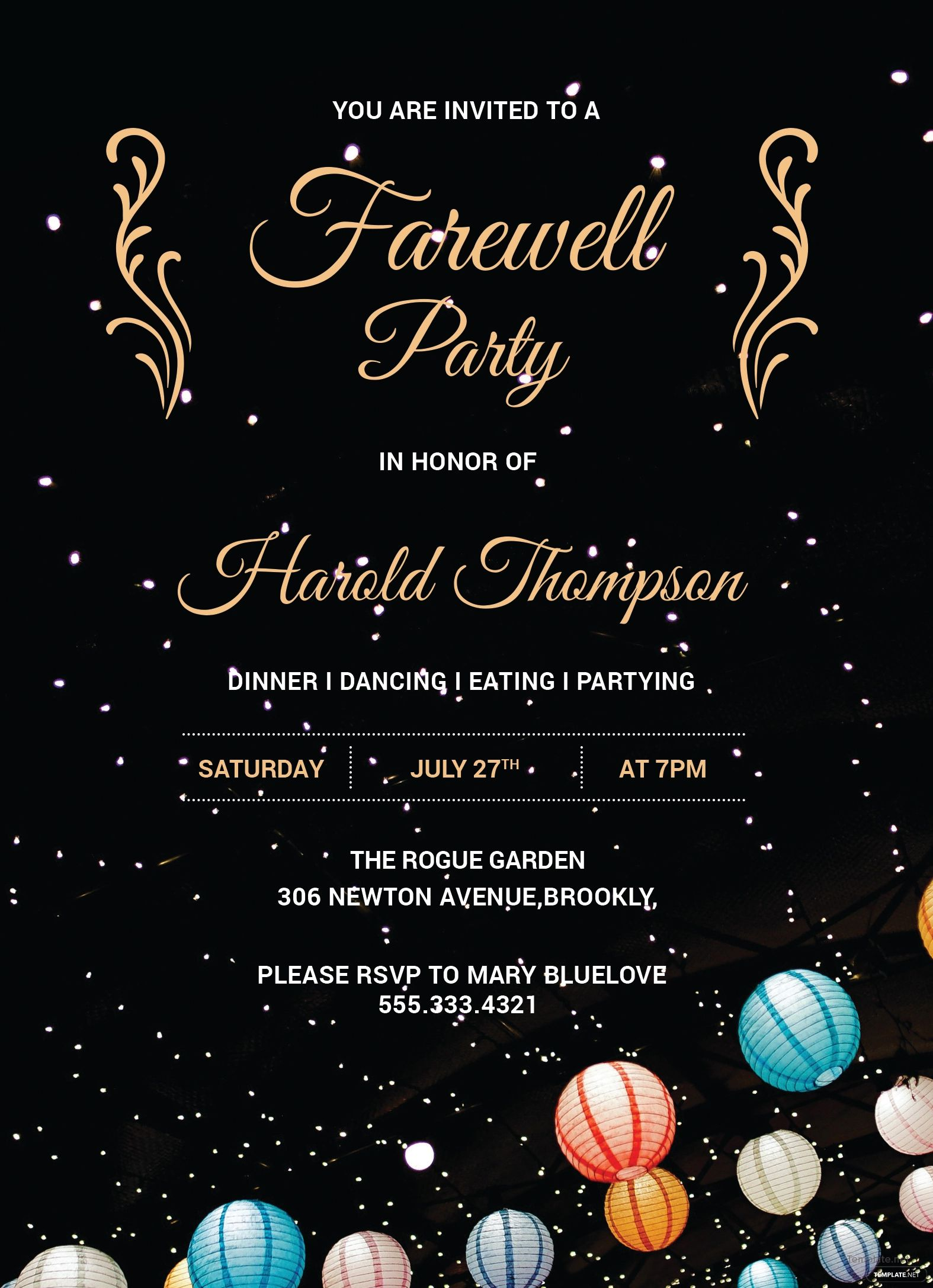 farewell flyer