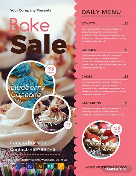FREE Bake Sale Flyer Template Download 812+ Flyers in PSD
