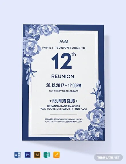 FREE Family Reunion Invitation Template Download 637+ Invitations