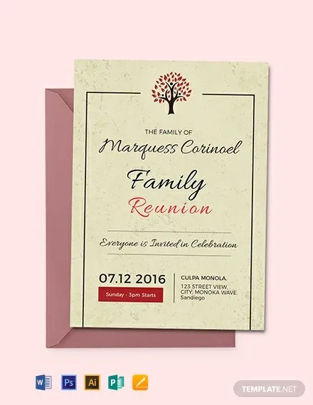 FREE Vintage Family Reunion Invitation Template Download 637+