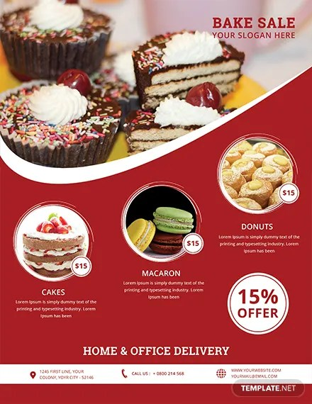 Free Printable Bake Sale Flyer Template in Adobe Photoshop - bake sale flyer template microsoft