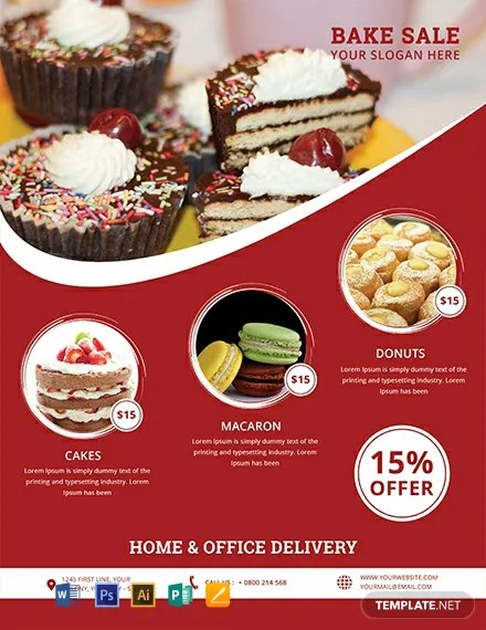 FREE Printable Bake Sale Flyer Template Download 812+ Flyers in PSD