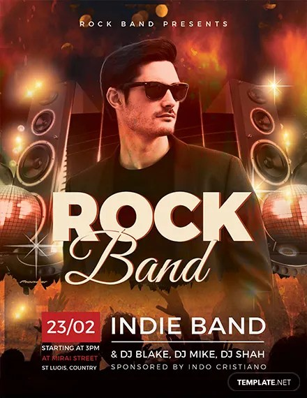 Free Rock Band Flyer Template Download 416+ Flyers in PSD