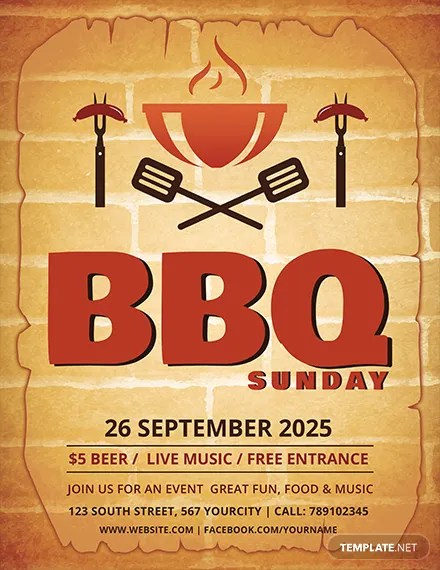 25+ BBQ Flyer Templates - PSD, AI, Word, EPS Vector Format Free
