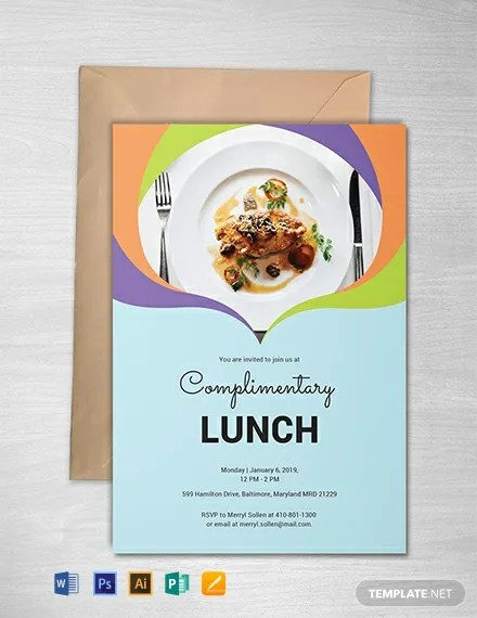 FREE Complimentary Lunch Invitation Template Download 637+