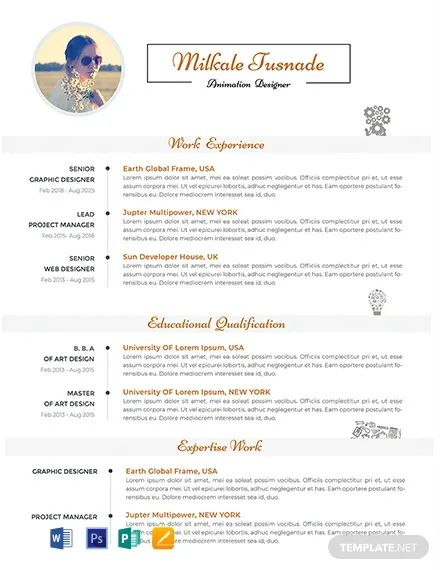 resume modern sample