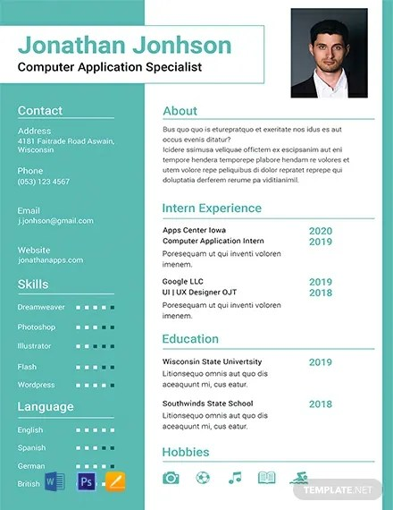 FREE BCA Fresher Resume Template Download 316+ Resume Templates in