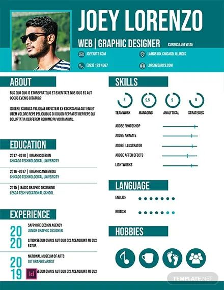 free template for cv to download