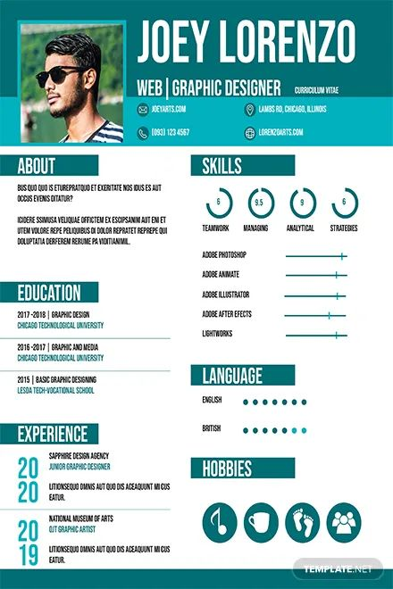 free templates indesign cv