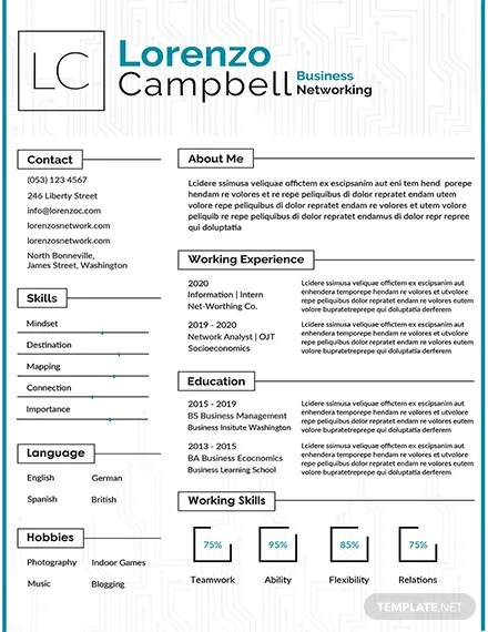 FREE Hardware and Networking Fresher Resume Template Download 160+