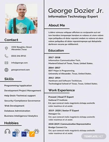 download free professional resume template