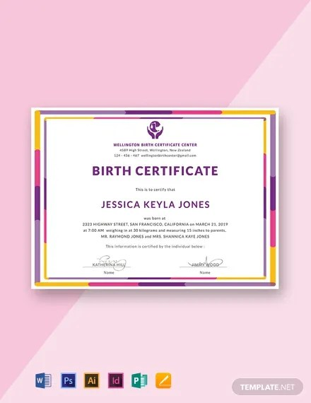 15+ FREE Birth Certificate Templates Download Ready-Made Samples