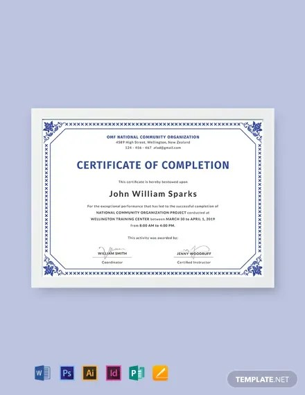 FREE Certificate of Project Completion Template Download 435+