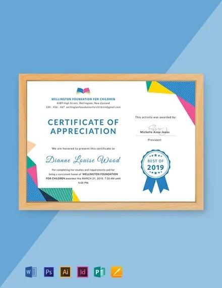 FREE Graduation Appreciation Certificate Template Download 435+