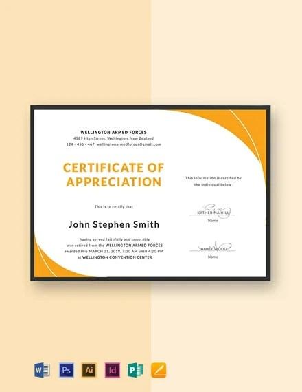 FREE Retirement Certificate Template Download 435+ Certificates in