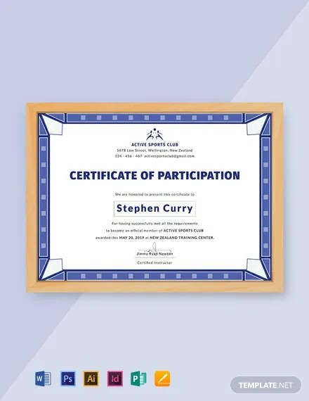 20+ FREE Participation Certificate Templates Download Ready-Made